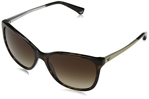 Cat Armani - Emporio Armani Women's 0EA4025 Dark Havana/Brown Gradient