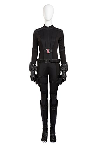Eddialdivia Women's Captain America 3 Black Widow Cosplay Costume Custom-Made (L) (Custom Made Captain America Costume)