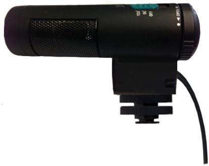 Bower Elite Stereo Microphone With Windscreen Shotgun For Canon VIXIA HF M52
