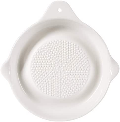 Porcelain Grater Plate, Grinding Tool To Make Manually Shredded Ginger Garlic Fruit And Vegetable Mud,Baby-Food Grinders(6 inches & White) (6 Inch)