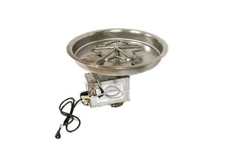 PENTA19HWI 19in Bowl Pan with Penta Burner Complete Electronic Ignition Firepit Insert ()