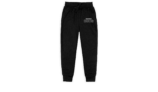 Dunpaiaa Science Periodic Table Teach Boys Sweatpants,Joggers Sport Training Pants Trousers Black
