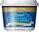 Spectrum Shortening, 100% Vegetable, Organic, 24 oz