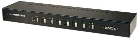 Lindy 8 Port KVM Switch Pro USB 2.0, DVI-I Single Link (39319)