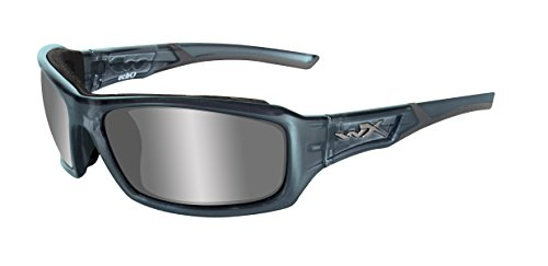 Price comparison product image Wiley X Echo Sunglasses,  Silver Flash,  Smoke Steel Blue