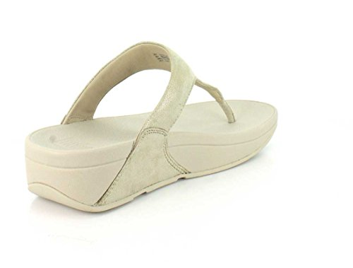 Sandales Fitflop or pâle Shimmy Suede Toe-Post