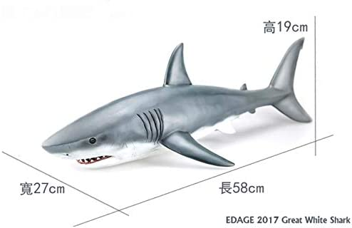 EDAGE 1//12 Scale Great 58cm White Shark Figure Dinosaurs Model Art DX Ver
