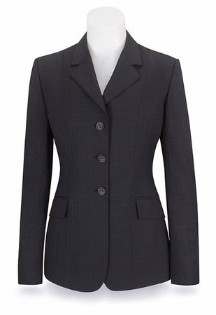 RJ Classic Ladies Diamond Collection Saratoga Show Coat Navy Stripe (10)