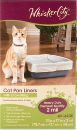 31LbTBcRbFL - Whisker City Cat Pan Liner with Drawstring, 40 Large