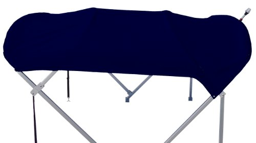 NAVIGATOR New Pontoon Boat Bimini Top Only/Top and Storage Boot 8' x 10' (Navy)