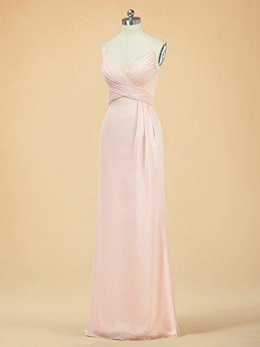 Bridesmaid Alicepub Evening Dresses Long Party for Women Lilac Dress Halter Spaghetti 55ZqnW4