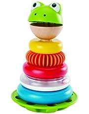 HAPE E0457 Mr Frog Stacking Rings, 7 Each