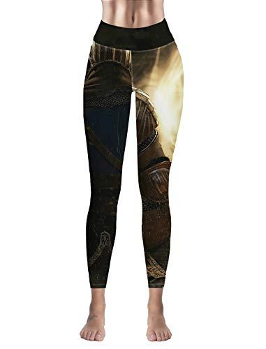 - High Waist Yoga Capri Workout Pants Tummy Control Stretch Compression Running Leggings Warrior