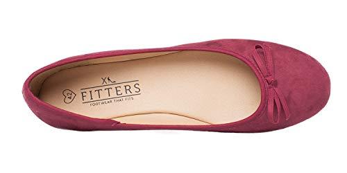 Footwear Ballerina 43 Fitters Helen Burgundy pfAAWSZ