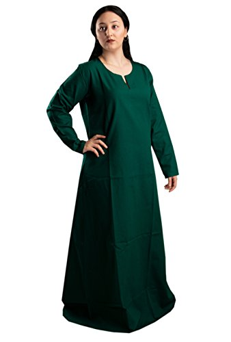 byCalvina Costumes Fraye Viking Medieval Women Dress Made in Turkey,Frst.Grn-3XL ()