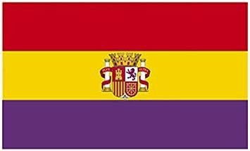 Desconocido Bandera Republica ESPAÑOLA con Escudo Republicana Grande 150 Cm 1,5 Metros: Amazon.es: Hogar