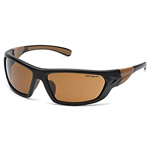 Carhartt Carbondale Safety Sunglasses with Sandstone Bronze Lens