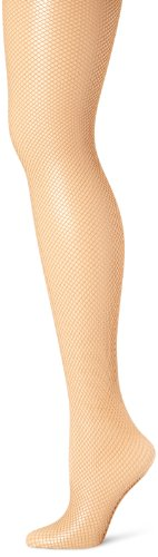 Capezio Women's Professional Fishnet Tight With Seams,Caramel,Small/Medium