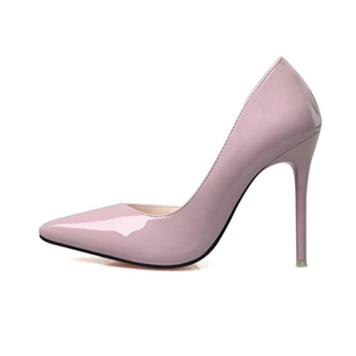 CYBLING Fashion Ladies Pointed Toe Stiletto Heels Dress Pumps for Women Evening Party Shoes Light Purple KqPE9H0w