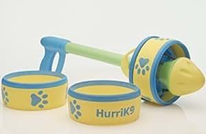 HurriK9 Foot Flying Ring for Dogs Starter Pack, Launcher Plus 3 Rings