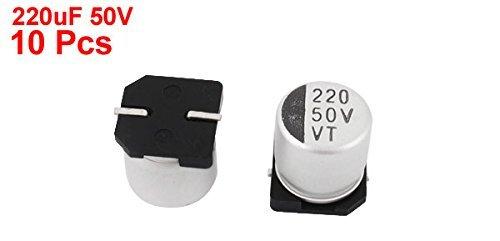 eDealMax a14121700ux0482 10 Pieza 220uF 50V SMD condensadores electrolíticos de aluminio, 10 mm x 10 mm: Amazon.com: Industrial & Scientific