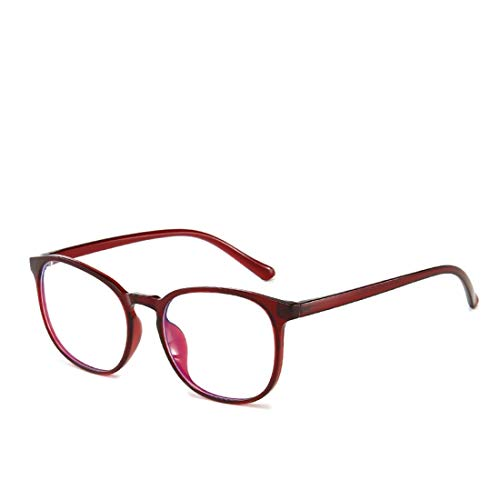 Unisexes Ovesuxle Anti Et Ordonnance radiations Des De Brown Red Confortables color Encadrent bleu Sans Anti Lunettes H1YHwqa