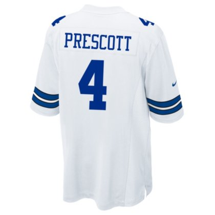 29daf2c90 Amazon.com   Dallas Cowboys Dak Prescott Nike White Game Replica Jersey    Clothing