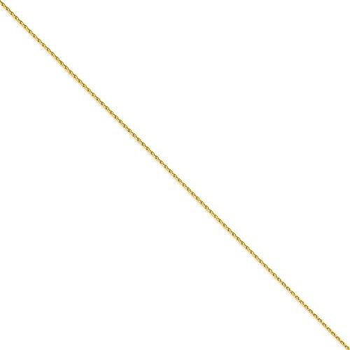 14 carats 1,5 mm blé Bracelet Chaîne - 9 cm-JewelryWeb