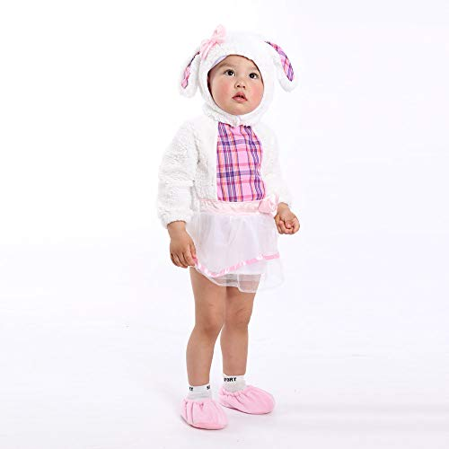 LIGHSALT Costume Baby Girls' Little Lamb Animal Dresses White
