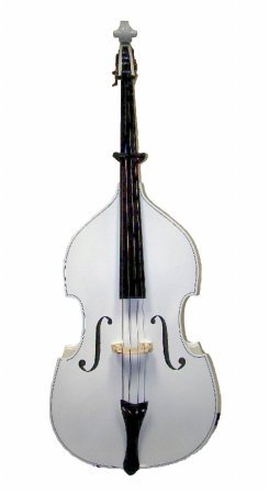 Merano MB400WT 3/4 Size White Student String Bass with Bag and Bow+Free Rosin