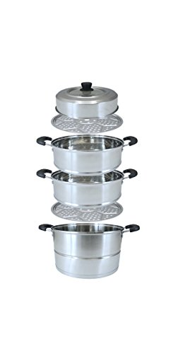 CONCORD 3 Tier Premium Stainless Steel Steamer Set (32 CM) by Concord Cookware (Image #7)