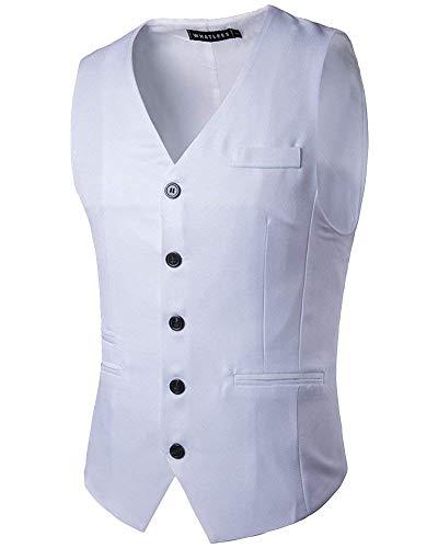 Da Business Monopetto Fashion Laisla Slim Bianca Classiche Ragazzi Gilet Con Casual Fit Uomo 5 wOPTZXuki
