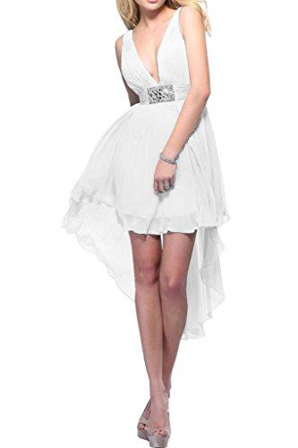 Missdressy -  Vestito  - linea ad a - Donna bianco 44