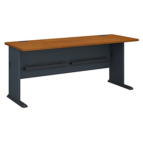 Natural Wood Series Natural - Bush Business Furniture Series A 72W Desk in Natural Cherry and Slate