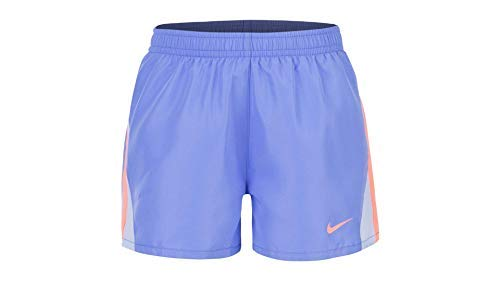 Nike Girls' Dry Tempo Running Shorts (Royal Pulse(36D186-U8H)/Orange, 6X) by Nike
