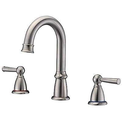 Widespread Bathroom Faucet 3 hole CREA Lavatory Vanity Faucet Tap 2 Handle in Antique Brass Color