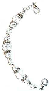 Hidden Hollow Beads Women's Medical Alert ID Interchangeable Replacement Bracelet
