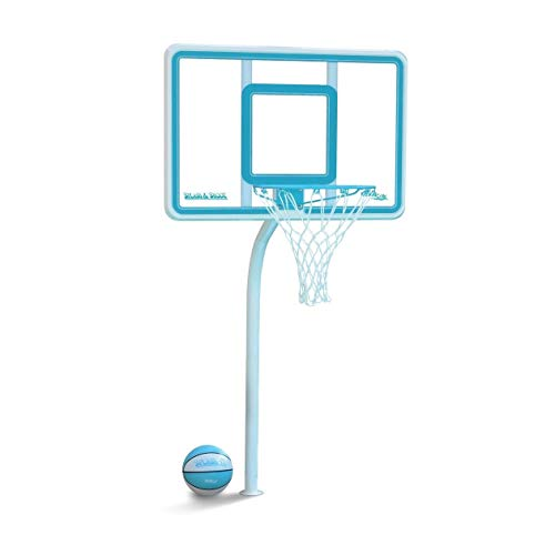 Dunnrite DeckShoot Pool Basketball Hoop with Stainless Steel Rim and Brass Anchor ... (Clear)