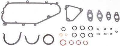Evan-Fischer EVA12372046041 Engine Gasket Set Conversion Includes 1 crankshaft front oil seal 18 rubber seals 6 soft gaskets 2 pan and copper rings For lower block - 1 Engine Front