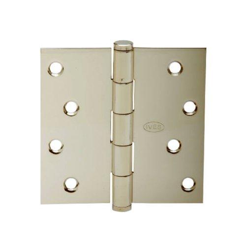Solid Brass Hinge Square Corners - SCHLAGE LOCK CO SC3P1020F-605E 4-Inch BB SQ Corn Hinge, 3-Psck