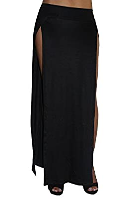 Women's Skirt Split Open Front Full Lenght Rayon Made in The USA