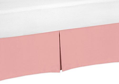 Coral Peach Baby Crib Skirt Or Dust Ruffle For Sweet Jojo De