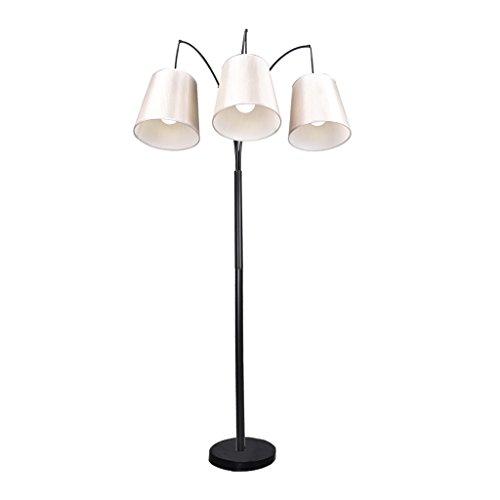 Trinity 687 inch arc 3 light floor lamp brushed steel for 3 light steel floor lamp