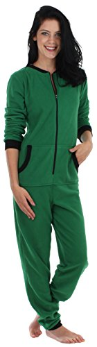 Adult Jumpsuit (Sleepyheads Women's Adult Non Footed Fleece Color Onesie Pajama Jumpsuit (SH1018-4029B-XS))