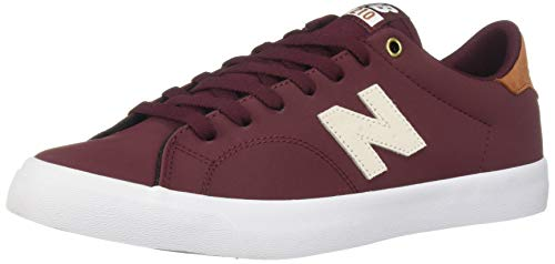 New Balance Men's 210v1 Skate Shoe, Burgundy/tan, 7.5 D US