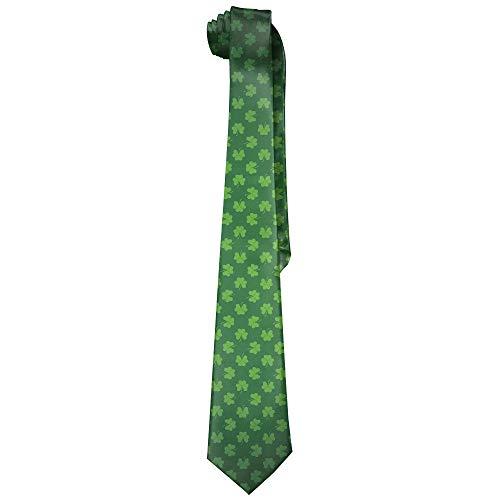 Men's Fashion tie Irish Shamrock Green Necktie One Size Neck Tie