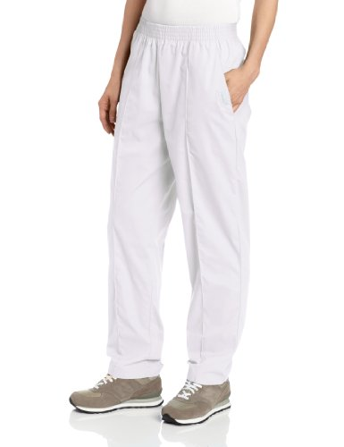 - Landau Women's Comfortable 2-Pocket Classic Fit Medical Scrub Pant Uniform, White, X-Large Petite