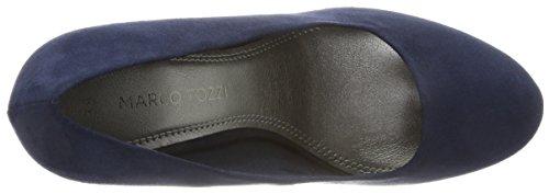 22441 Blu Scarpe Marco Comb con Tacco Donna Tozzi Navy wgHgAYqx5
