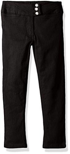 CHEROKEE Little Girls' Uniform Stretch Twill Skinny Pant, Black Stone, ()