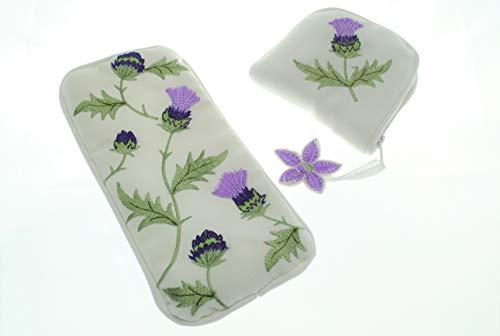 Justina Claire Jewlry Purse/Eyeglasses Case Gift Set in an Alba Thistle Design - Mackintosh Rose Gift Set